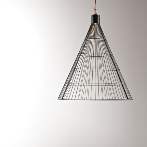 Lampada a sospensione in metallo De Castelli mod. Luce Solida