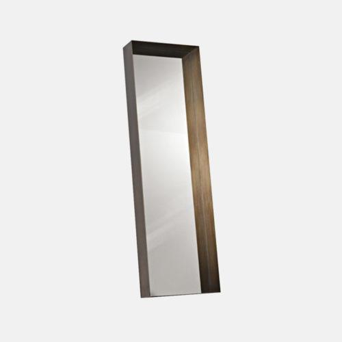 Specchio con cornice in metallo De Castelli mod. Frame