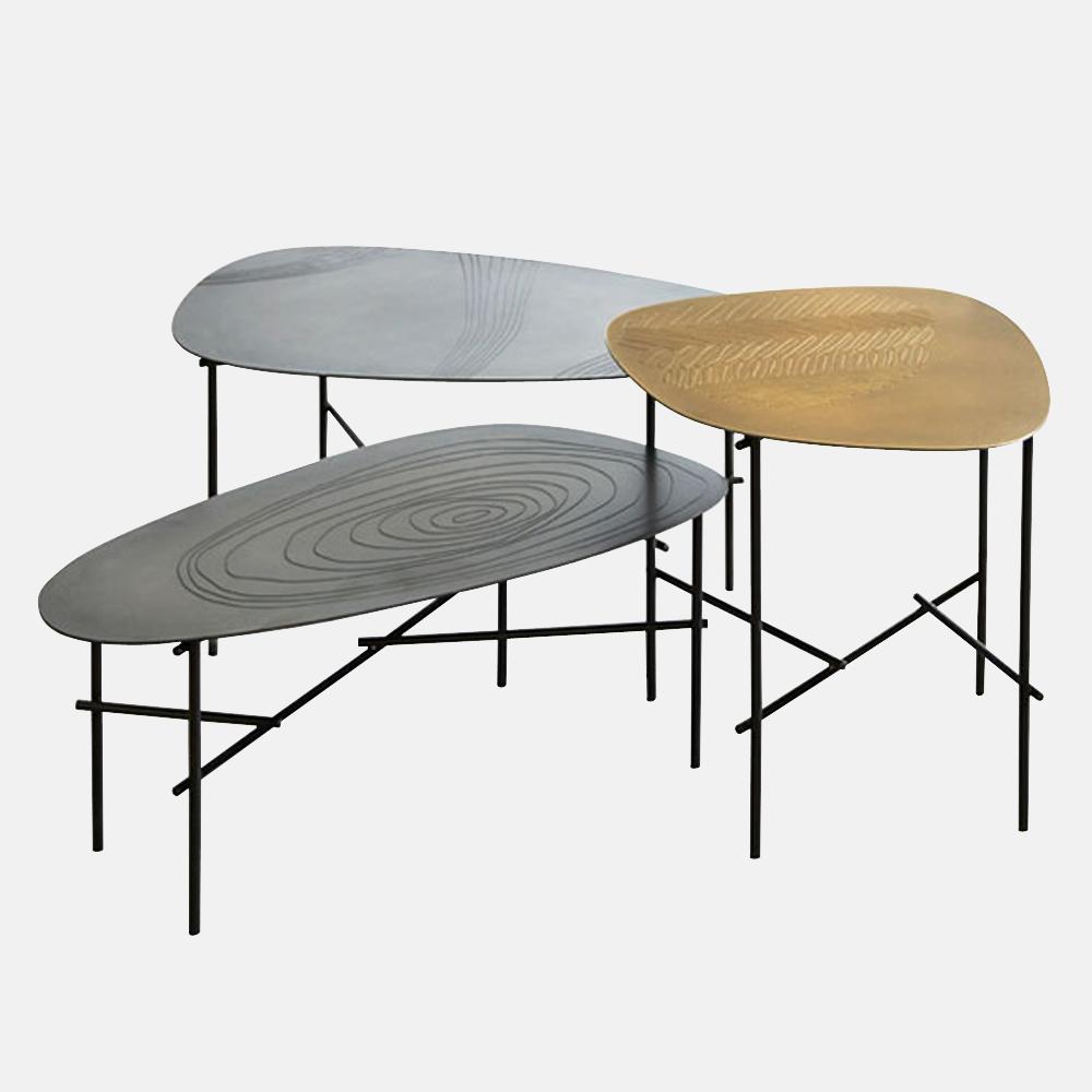 Tavolino in metallo de castelli mod syro design alpino for De castelli