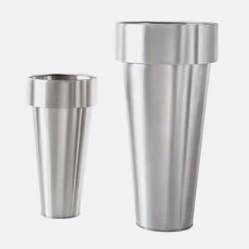 Vaso in metallo De Castelli mod. Delta e Omega