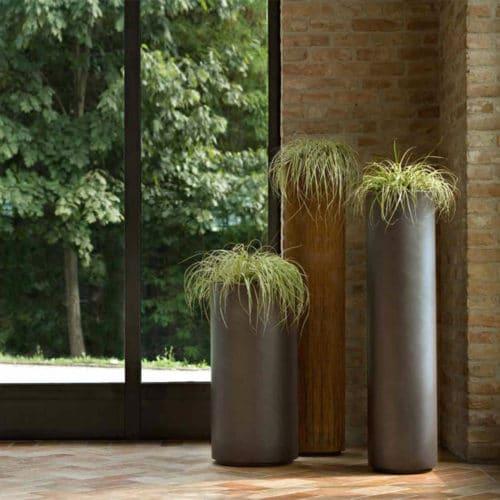 Vaso in metallo De Castelli mod. Cohiba