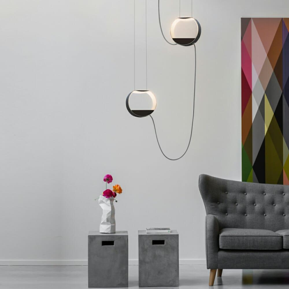 Lampada a sospensione Design Heure mod. Eau de Lumière - Design Alpino