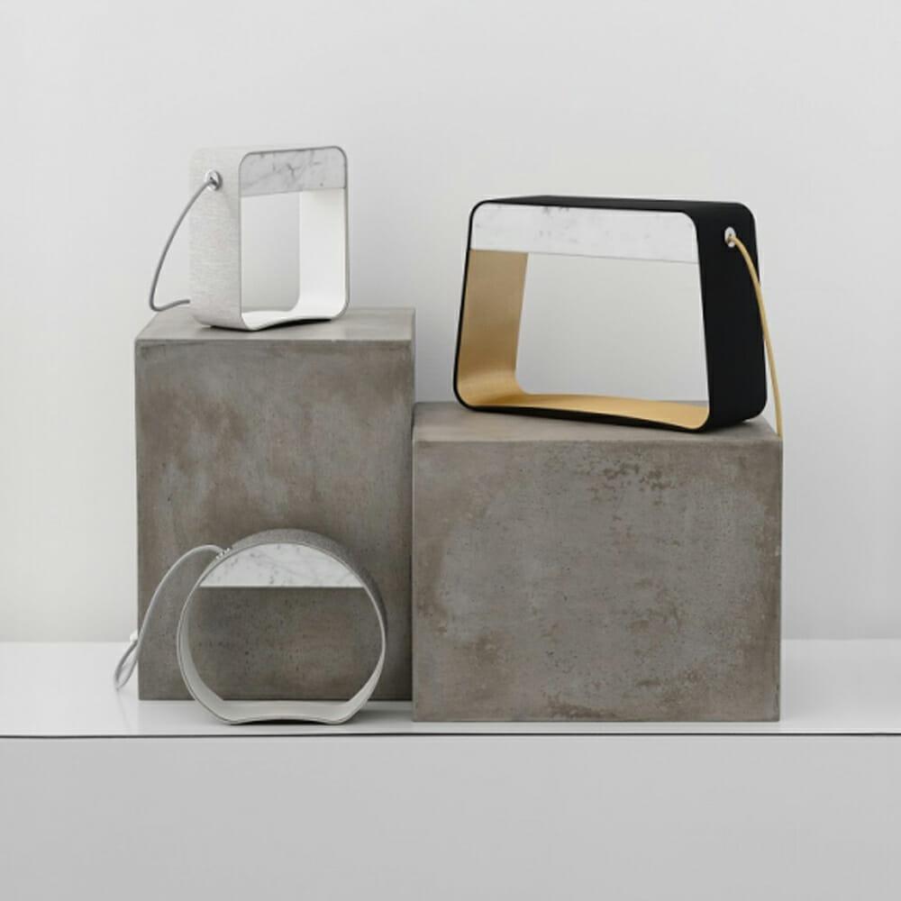 Lampada da tavolo Design Heure mod. Eau de Lumière Rectangle