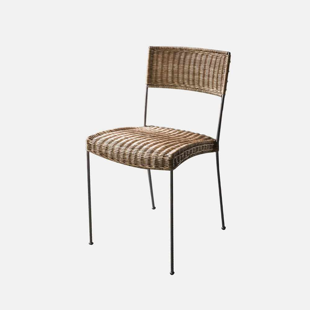 Sedia in bamb e ferro mod giuly design alpino for Sedia a dondolo bambu