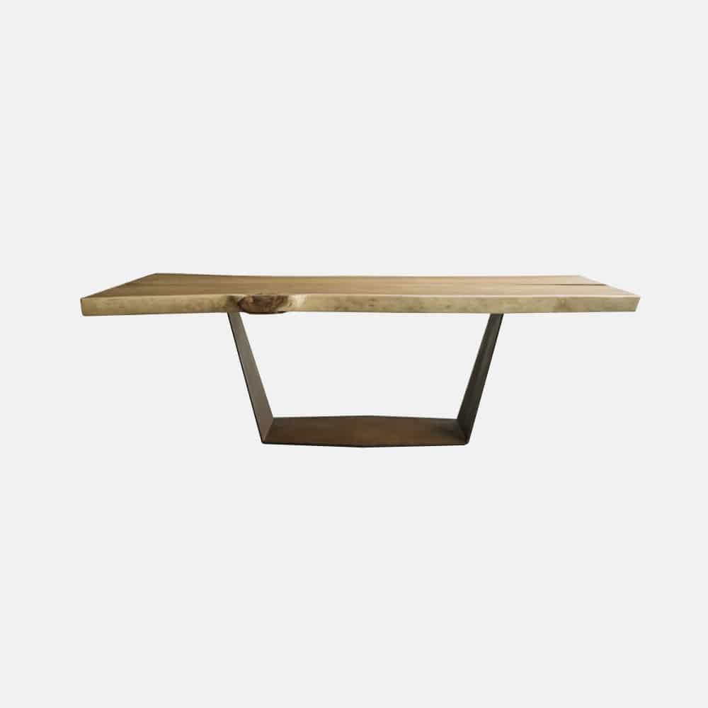 Tavolo in legno e ferro mod.Ala - Design Alpino
