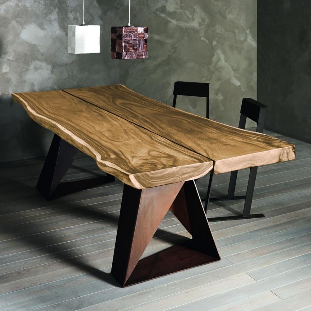 Tavolo in legno e ferro mod.Dasar - Design Alpino