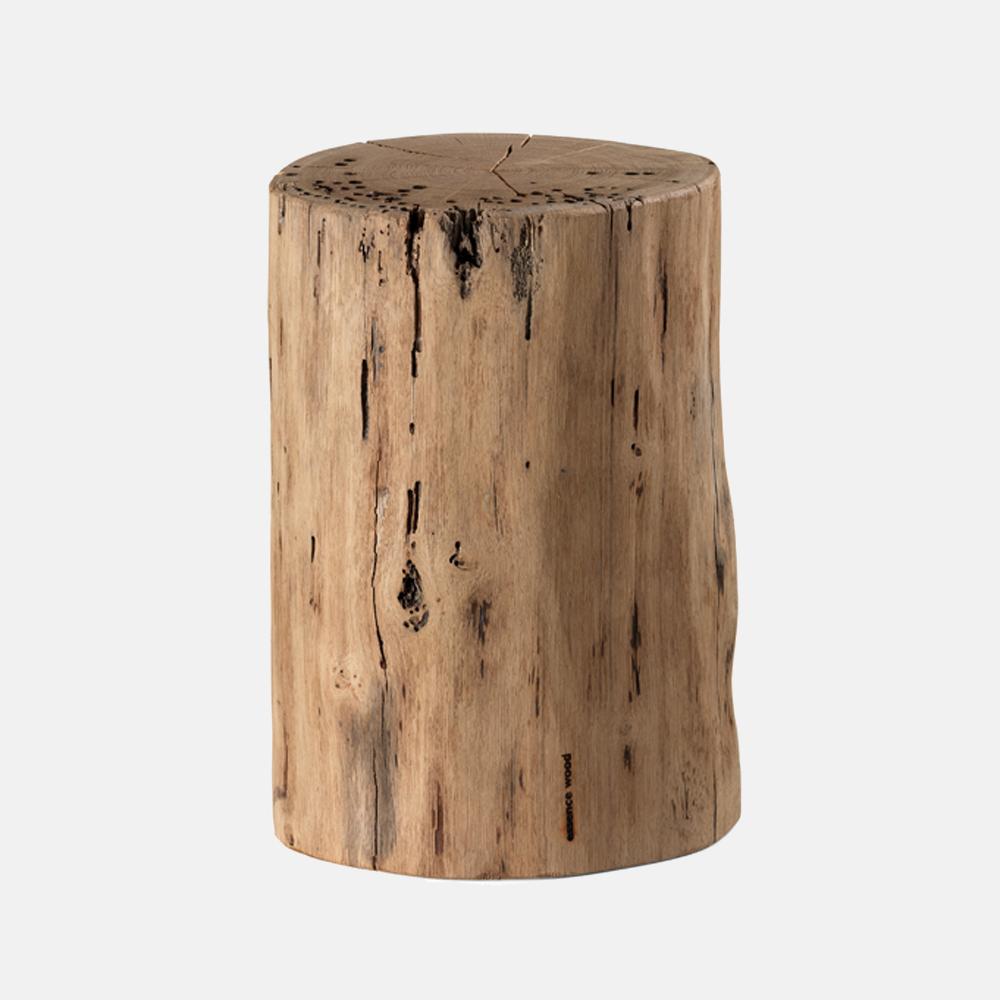 Tavolino sgabello in legno mod tronco sostanza design - Tavolini rustici ...