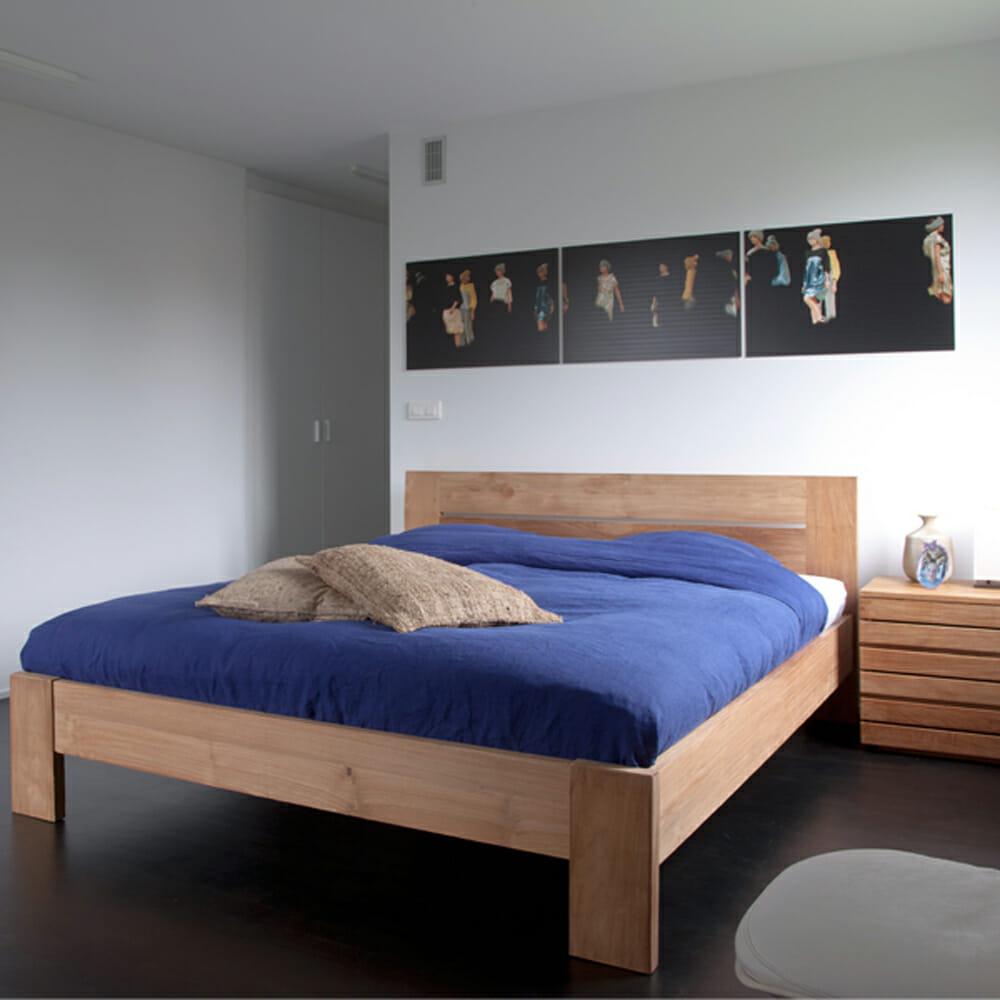 Letto matrimoniale in legno massello mod azur design alpino - Letto matrimoniale design ...