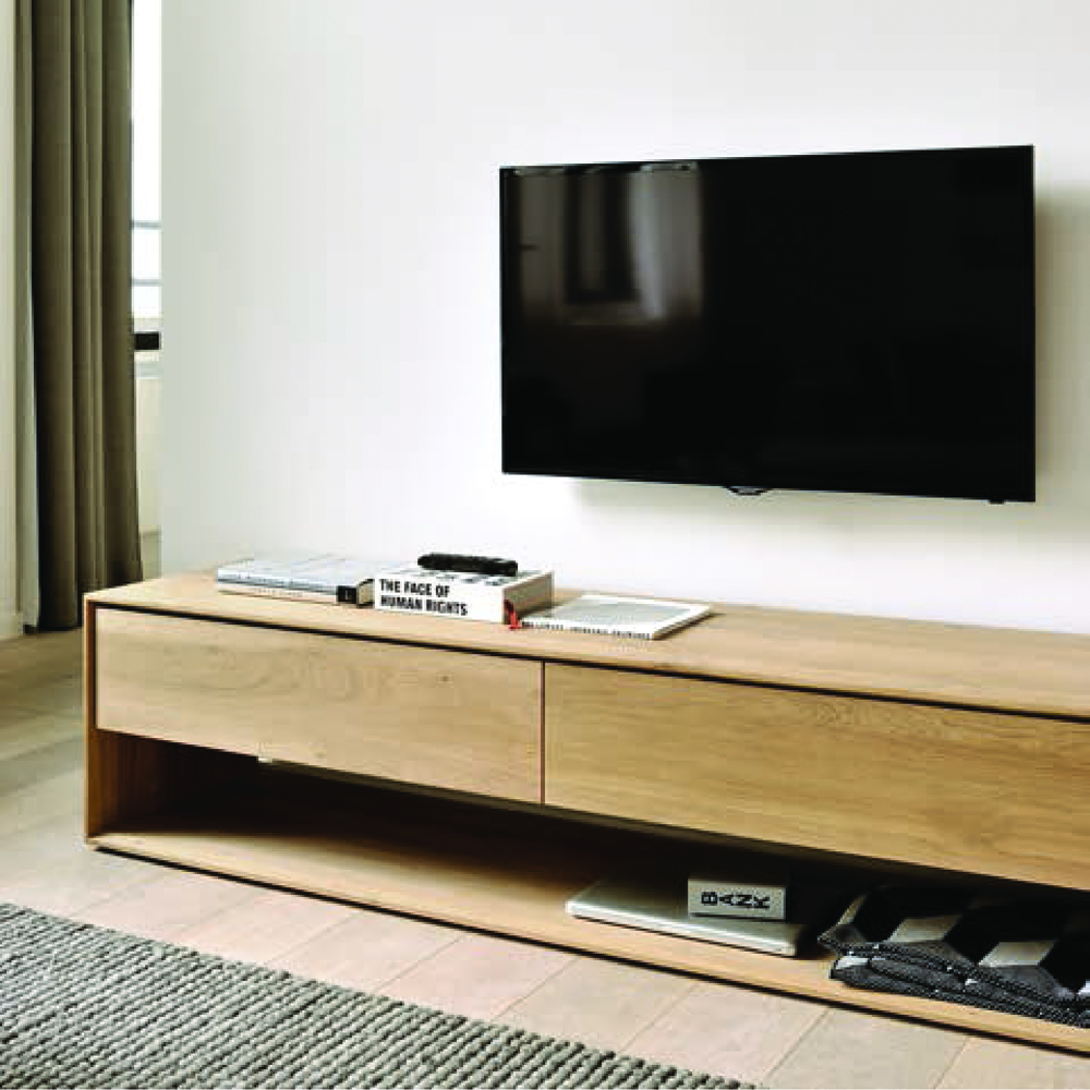 Mobile tv in legno massello mod nordic design alpino - Interruttori per mobili ...