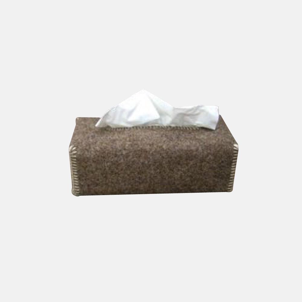 Porta kleenex in feltro di lana naturale mod alpen for Porta kleenex feltro