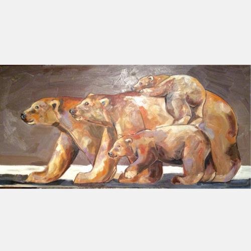 Dipinto Famiglia di Orsi