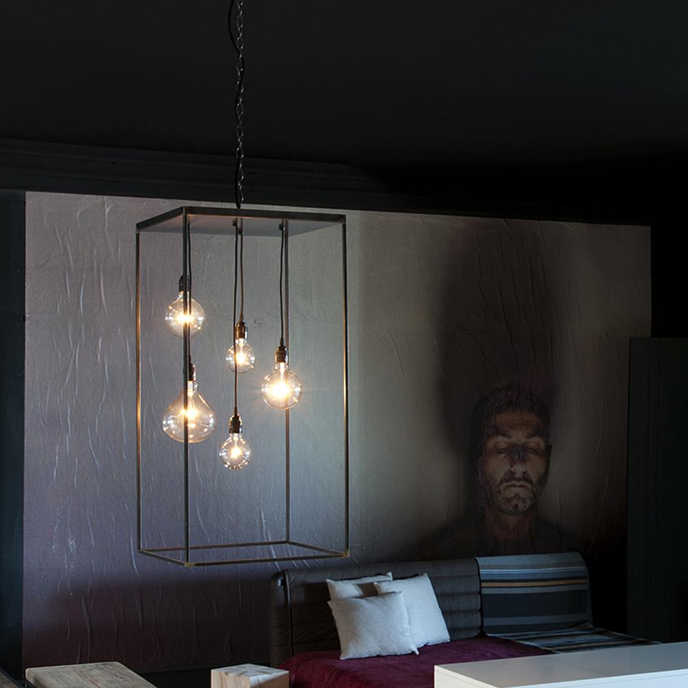 Lampada a sospensione mod.La Gabbia - Design Alpino