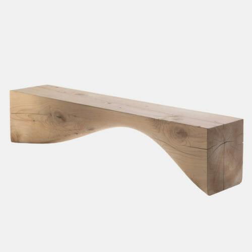 Panca Riva1920 collezione Cedro mod. Curve bench