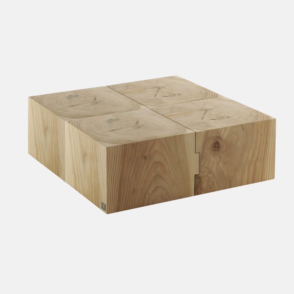 Tavolino/sgabello Riva1920 collezione Cedro mod. Ecoblock - Design ...