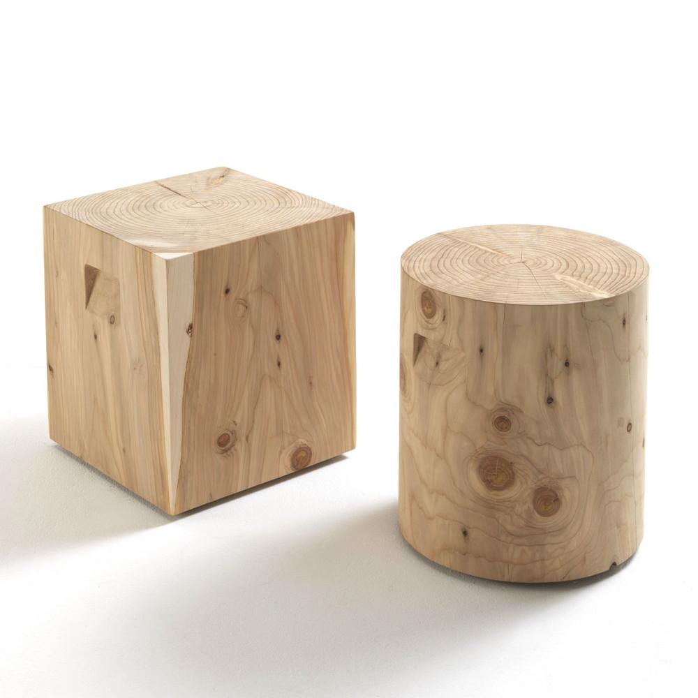 Tavolino/sgabello Riva1920 collezione Cedro mod. Logos
