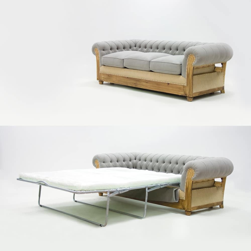 Divano letto mod.Chesterfield - Design Alpino