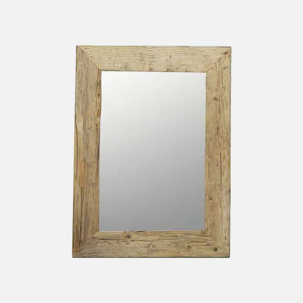 Specchio con cornice in larice antico design alpino - Specchio con cornice ...