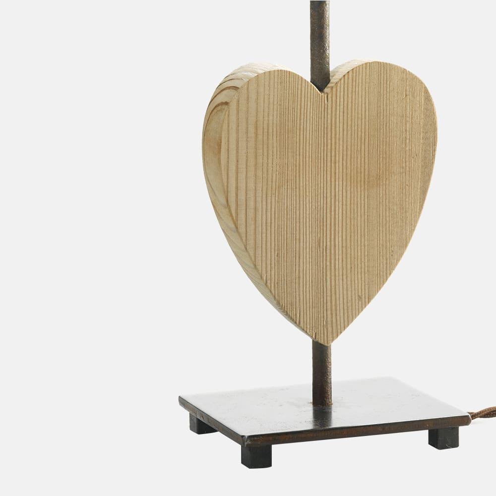 Lampada da tavolo in acciaio e legno con paralume mod toy - Tavolo legno e acciaio ...