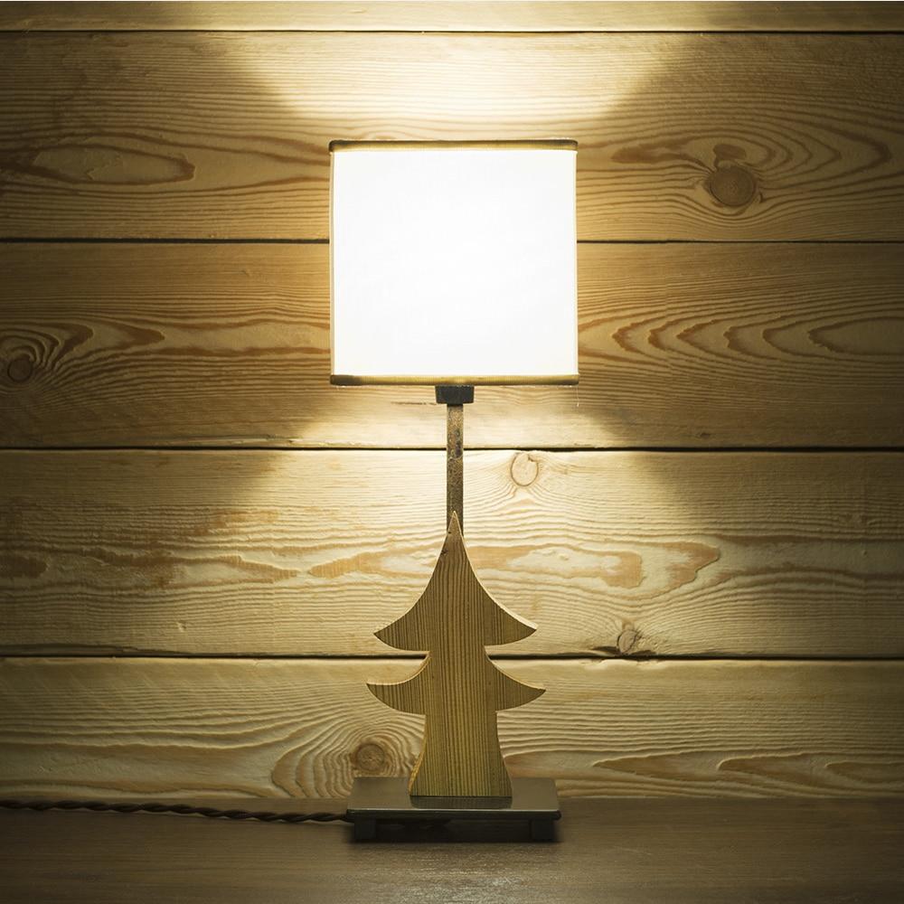 Lampada da tavolo in acciaio e legno con paralume mod toy for Lampada da tavolo design legno