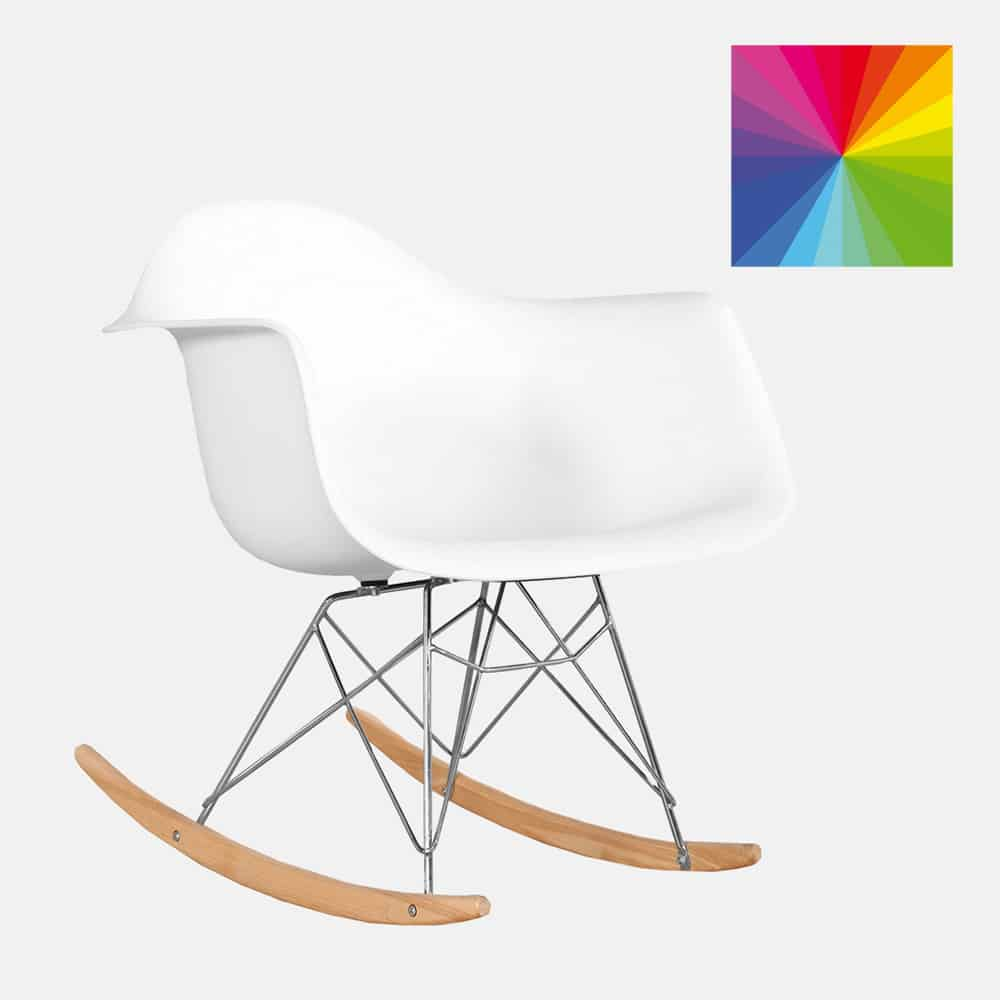 Sedia A Dondolo Bicolore Mod Eames Design Alpino