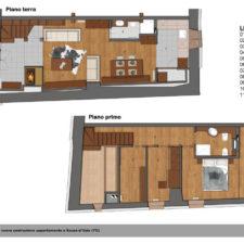 Pianta appartamento in baita a Jovenceaux